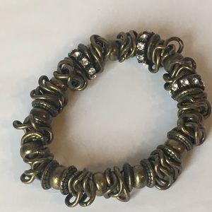 4 for $12: Bronze tone stretch bracelet